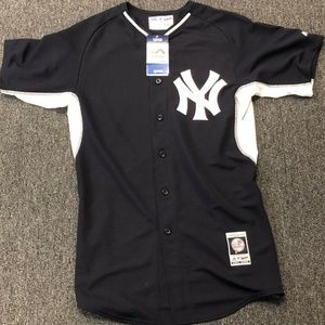Majestic NY Yankees Jersey Black Mens Size 40/40